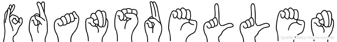 Fransuellen im Fingeralphabet der Deutschen Gebärdensprache