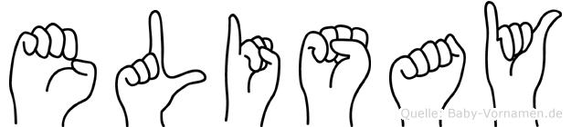 Elisay im Fingeralphabet der Deutschen Gebärdensprache