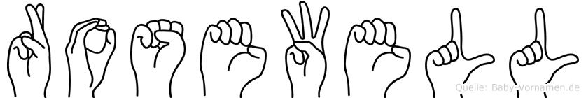 Rosewell in Fingersprache für Gehörlose