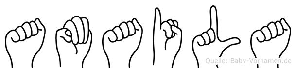 Amaila im Fingeralphabet der Deutschen Gebärdensprache