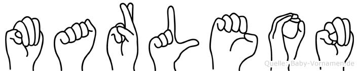 Marleon in Fingersprache für Gehörlose