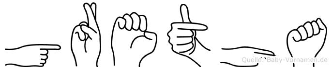 Gretha in Fingersprache für Gehörlose