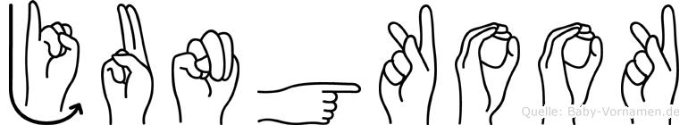 Jungkook in Fingersprache für Gehörlose