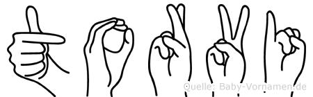 Torvi im Fingeralphabet der Deutschen Gebärdensprache
