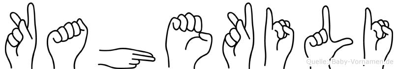 Kahekili in Fingersprache für Gehörlose