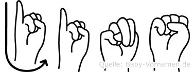 Jins in Fingersprache für Gehörlose