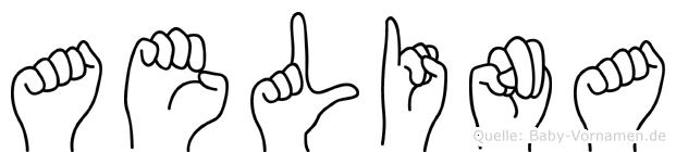 Aelina im Fingeralphabet der Deutschen Gebärdensprache