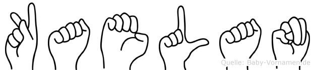 Kaelan im Fingeralphabet der Deutschen Gebärdensprache
