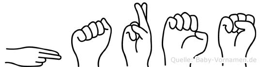 Hares im Fingeralphabet der Deutschen Gebärdensprache