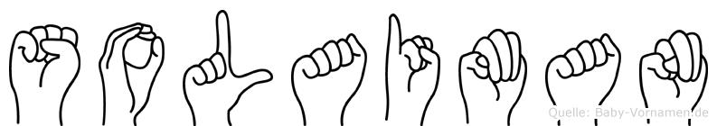 Solaiman im Fingeralphabet der Deutschen Gebärdensprache