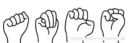 Ames in Fingersprache für Gehörlose