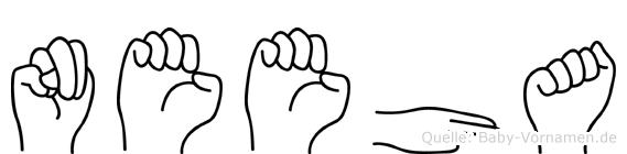 Neeha im Fingeralphabet der Deutschen Gebärdensprache