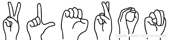 Vleron im Fingeralphabet der Deutschen Gebärdensprache