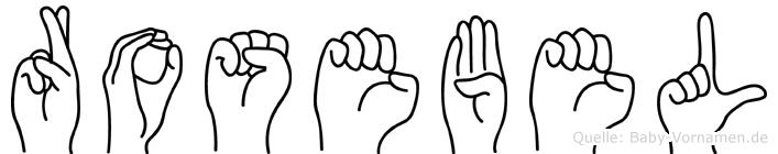 Rosebel in Fingersprache für Gehörlose