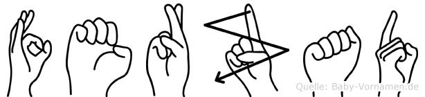 Ferzad im Fingeralphabet der Deutschen Gebärdensprache