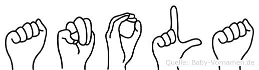 Anola in Fingersprache für Gehörlose