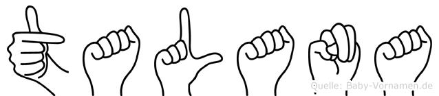 Talana im Fingeralphabet der Deutschen Gebärdensprache