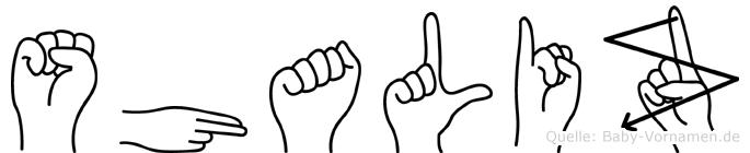 Shaliz in Fingersprache für Gehörlose