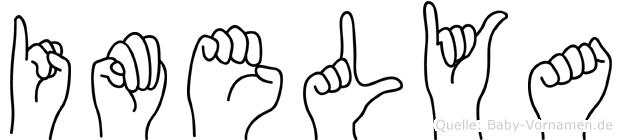 Imelya im Fingeralphabet der Deutschen Gebärdensprache