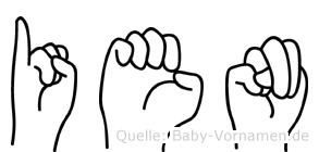 Ien in Fingersprache für Gehörlose