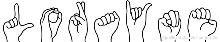 Lorayne im Fingeralphabet der Deutschen Gebärdensprache