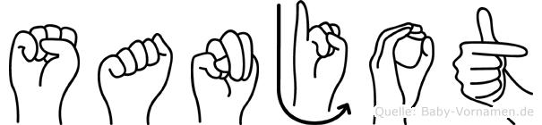 Sanjot im Fingeralphabet der Deutschen Gebärdensprache