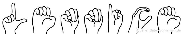 Lennice in Fingersprache für Gehörlose