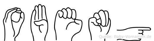 Obeng im Fingeralphabet der Deutschen Gebärdensprache