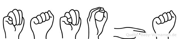 Manoha im Fingeralphabet der Deutschen Gebärdensprache