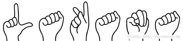 Lakana in Fingersprache für Gehörlose