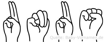 Unus in Fingersprache für Gehörlose