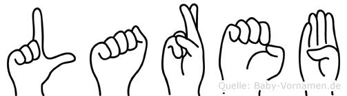 Lareb in Fingersprache für Gehörlose