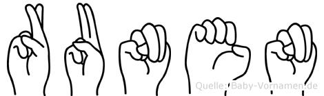 Runen in Fingersprache für Gehörlose