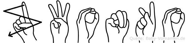 Zwonko in Fingersprache für Gehörlose