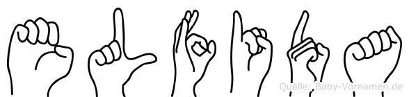 Elfida im Fingeralphabet der Deutschen Gebärdensprache