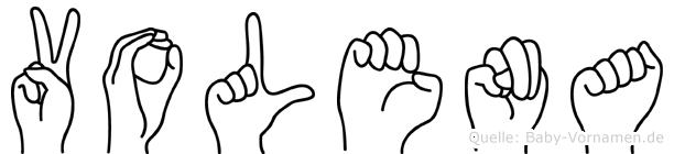 Volena im Fingeralphabet der Deutschen Gebärdensprache