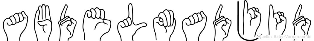 Abdelmadjid in Fingersprache für Gehörlose