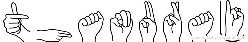 Thanuraj im Fingeralphabet der Deutschen Gebärdensprache