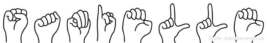 Samielle im Fingeralphabet der Deutschen Gebärdensprache