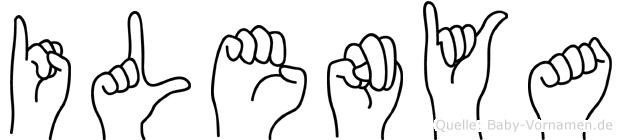 Ilenya in Fingersprache für Gehörlose