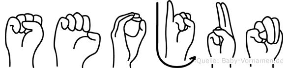 Seojun im Fingeralphabet der Deutschen Gebärdensprache