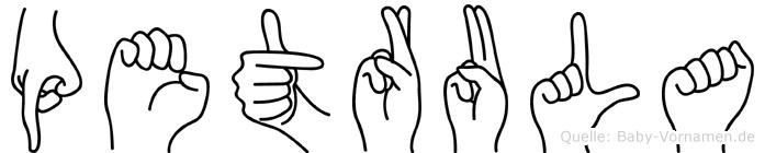 Petrula in Fingersprache für Gehörlose