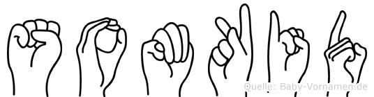 Somkid im Fingeralphabet der Deutschen Gebärdensprache