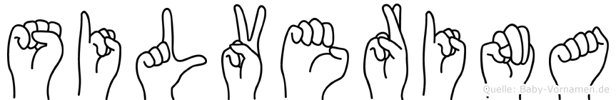 Silverina in Fingersprache für Gehörlose
