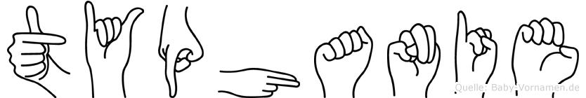 Typhanie im Fingeralphabet der Deutschen Gebärdensprache