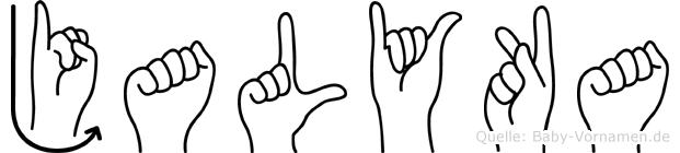 Jalyka im Fingeralphabet der Deutschen Gebärdensprache