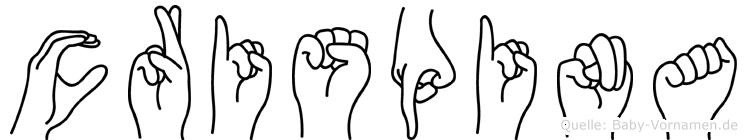 Crispina im Fingeralphabet der Deutschen Gebärdensprache