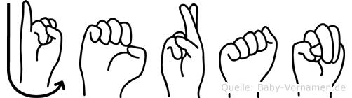 Jeran in Fingersprache für Gehörlose