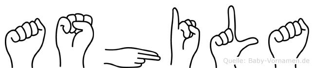 Ashila in Fingersprache für Gehörlose