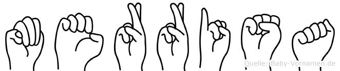 Merrisa im Fingeralphabet der Deutschen Gebärdensprache